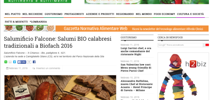 Salumificio Falcone srls su Newsfood.