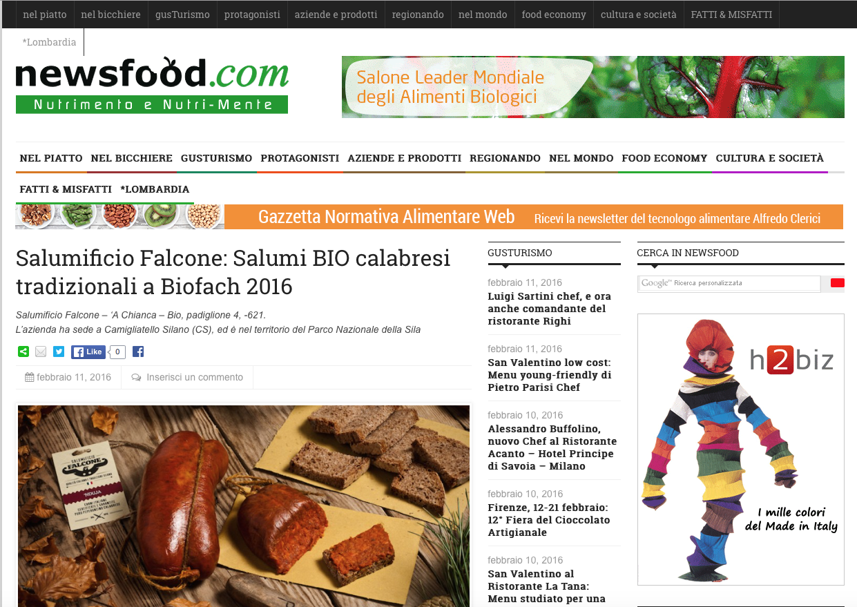 Salumificio Falcone Newsfood