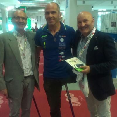 Giuseppe e Antonio Falcone con Andrea Devincenzi Mental Coach & Paralympic Atlete.