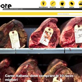 Dissapore segnala 'A Chianca tra le 10 macellerie italiane di eccellenza dove comprare le razze migliori.
